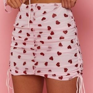 """Beginning Boutique """"Fall In Love"""" mini skirt, US 8"""
